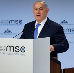 Premier Izraela Benjamin Netanyahu na 54. Monachijskiej Konferencji Bezpieczeństwa