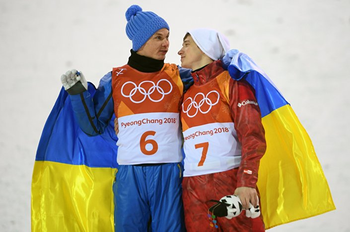 Aleksandr Abramenko (Ukraina) i Ilia Burow (Rosja), Pjongczang 2018