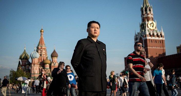 Sobowtór Kim Dzong Una w Moskwie