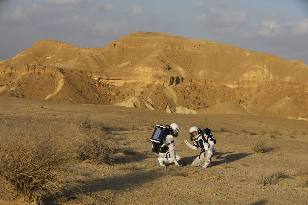 Wolontariusze projektu D-MARS w Izraelu