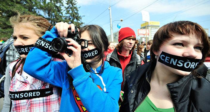 Akcja protestu przeciwko cenzury