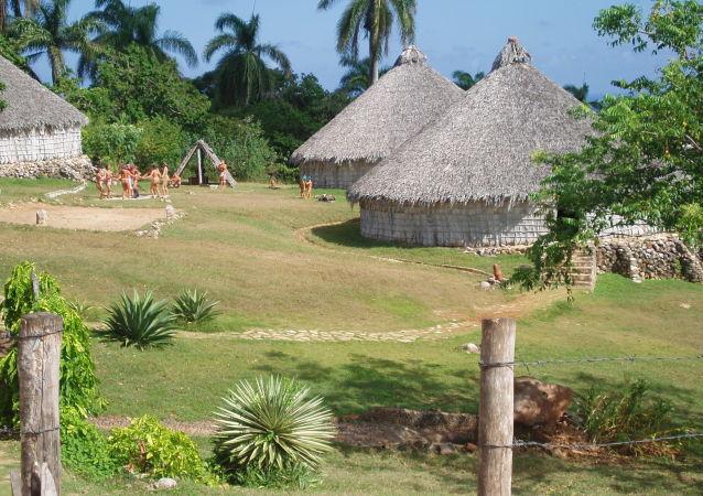 Rekonstrukcja wsi narodu Taino na Kubie