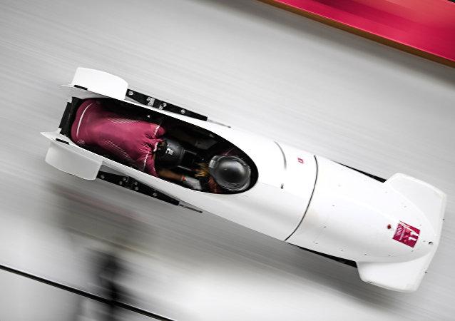Drużyna bobslejowa z Rosji na igrzyskach Olimpijskich w Pjongczangu 2018