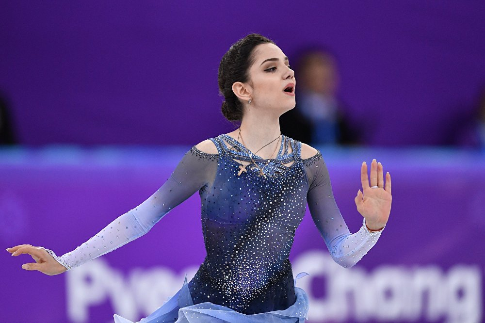 Występ łyżwiarki figurowej Jewgieniji Miedwiediewej w programie krótkim 21 lutego 2018