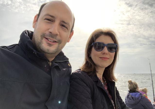 Pablo Rincon z żoną Aliną