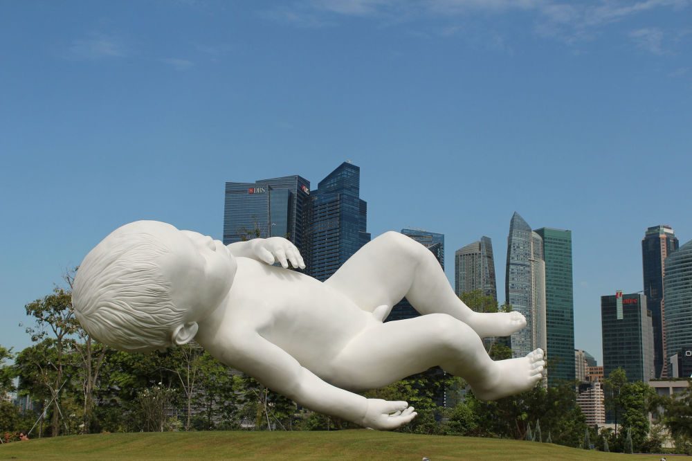 Rzeźba Marca Quinna w Singapurze