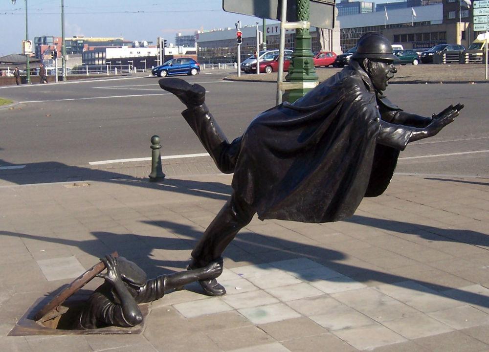 Rzeźba De Vaartkapoen w Belgii