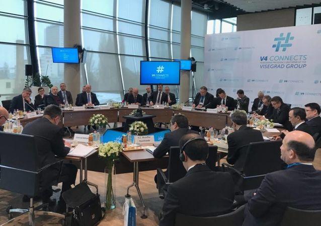 Spotkanie przedstawicieli resortów spraw zagranicznych nieformalnej Grupy Wyszehradzkiej w Budapeszcie