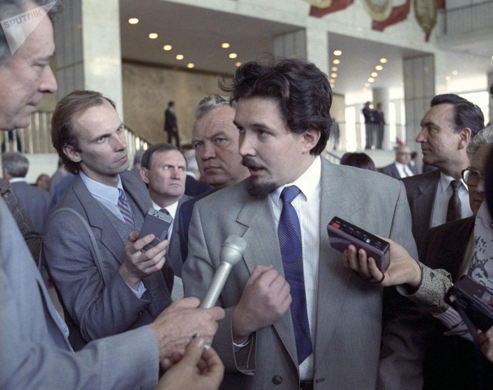 Siergiej Baburin podczas V. Zjazdu Deputowanych Ludowych ZSRR