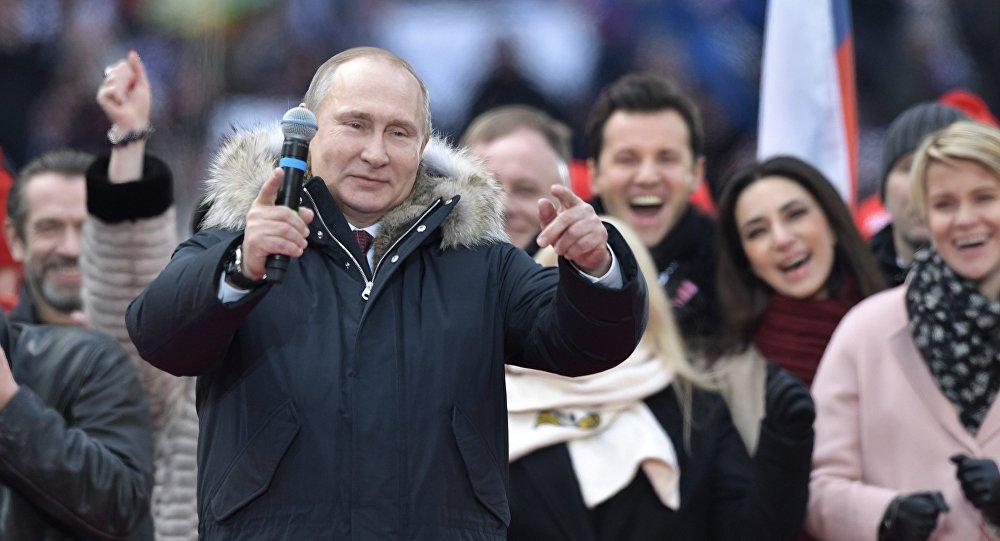 Koncert-miting poparcia dla Władimira Putina, stadion Łużniki w Moskwie