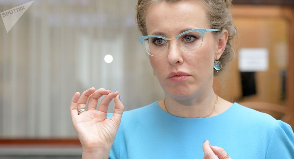 """Prezenterka telewizyjna, kandydatka na prezydenta Federacji Rosyjskiej z partii """"Inicjatywa obywatelska"""" Ksenia Sobczak"""