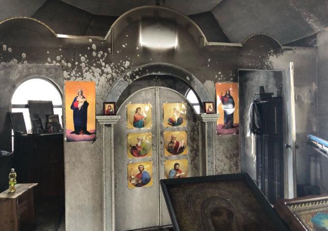 Nieznani sprawcy podpalili drewnianą kaplicę należącą do Ukraińskiego Kościoła Prawosławnego Patriarchatu Moskiewskiego w Kijowie