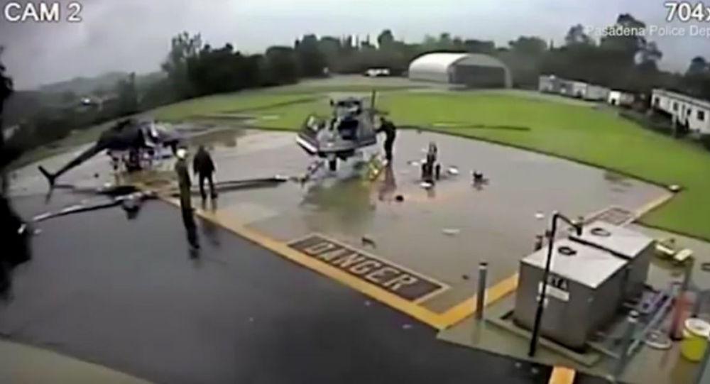 Zderzenie dwóch helikopterów w Pasadenie
