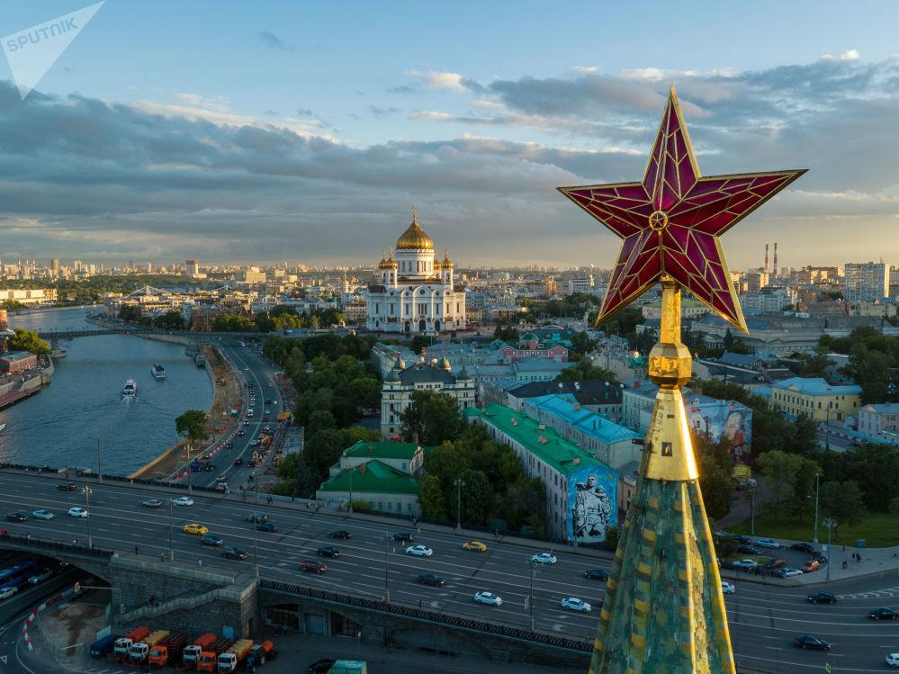 Gwiazda na wieży moskiewskiego Kremla