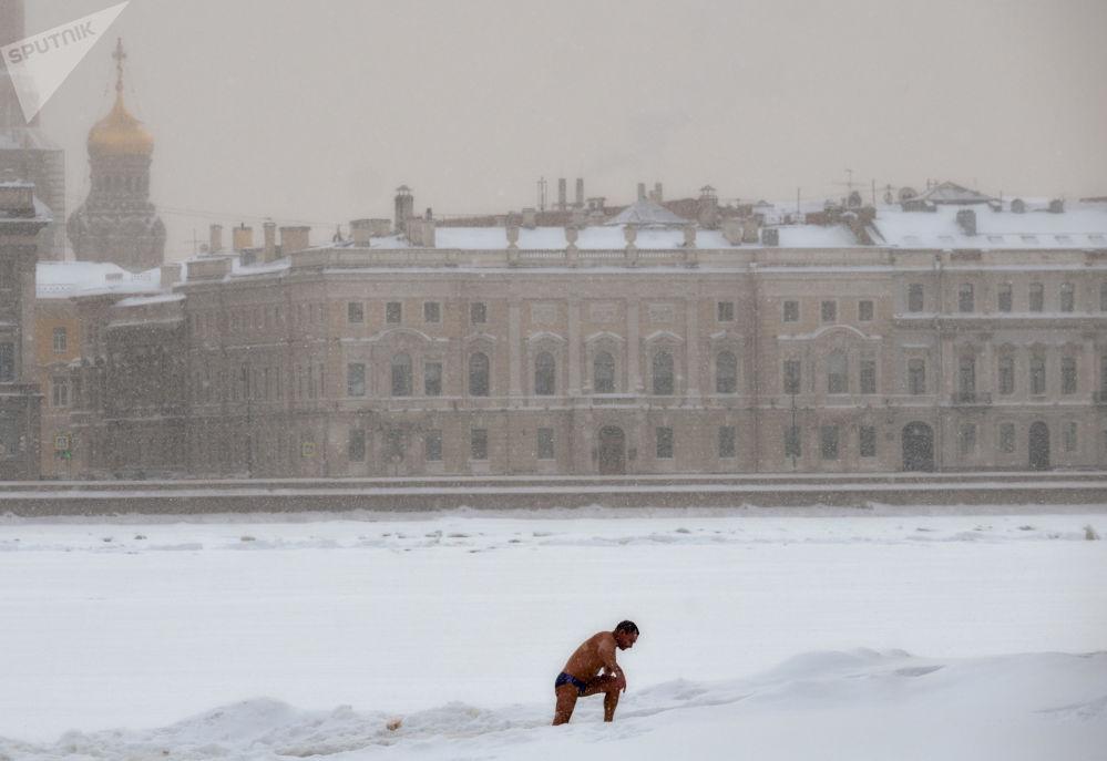 Rzeka Newa w Petersburgu