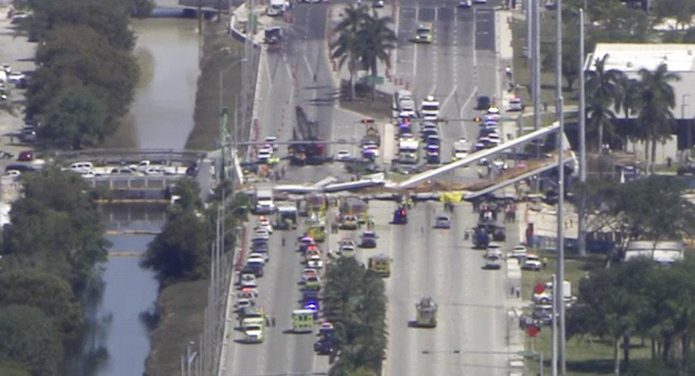 Na Florydzie zawalił się most dla pieszych