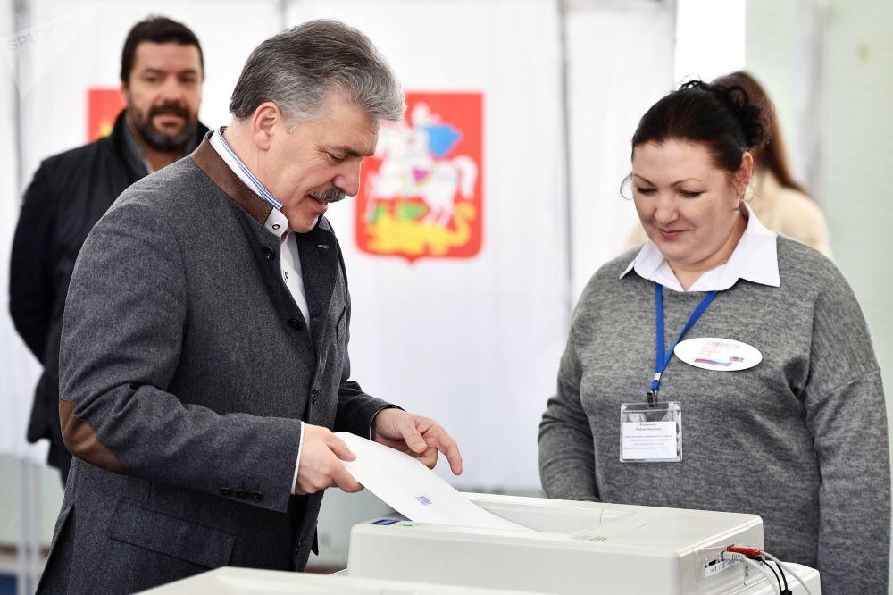 Kandydat na prezydenta Rosji Paweł Grudinin