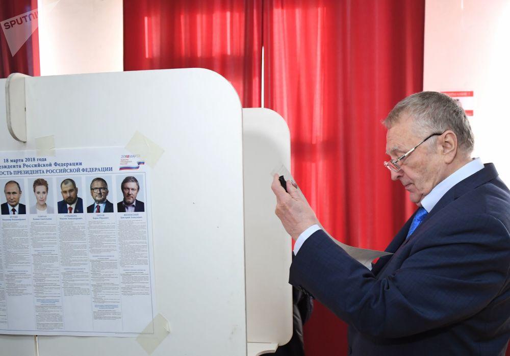 Kandydat na prezydenta Rosji Władimir Żyrinowski