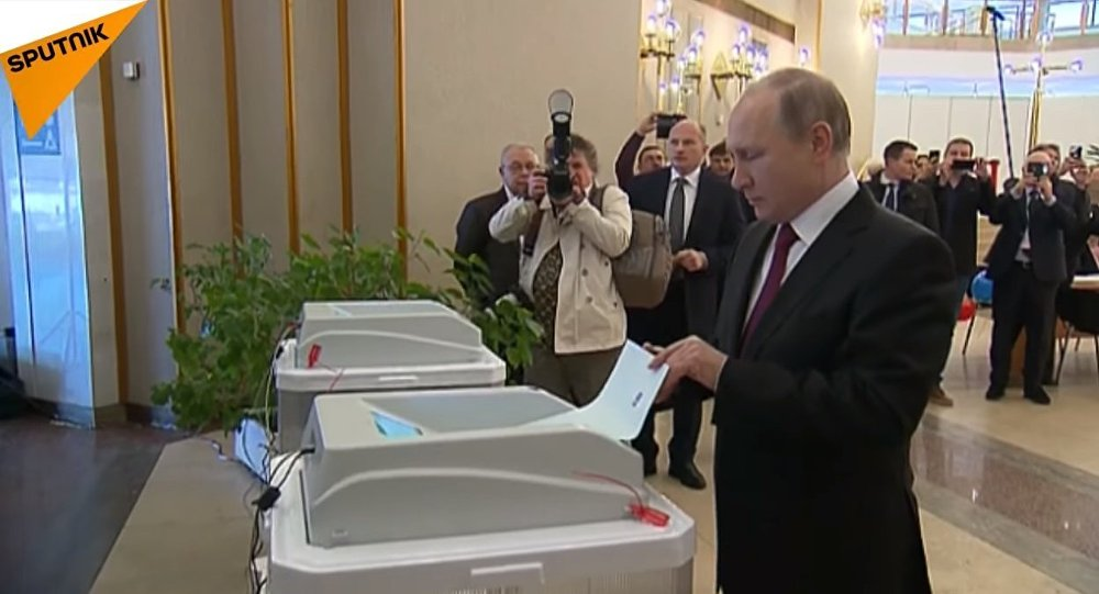 Putin Casts Ballot at Russian Presidential Election