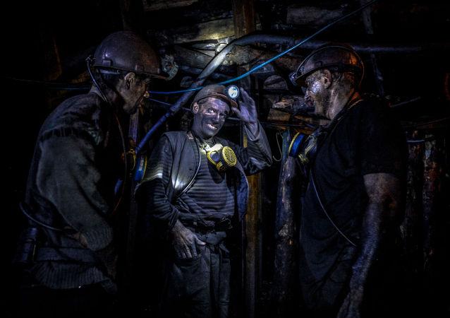 Górnicy z Donbasu