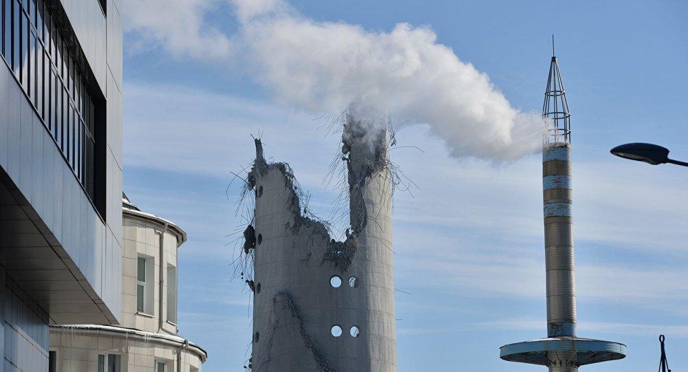 Wysadzenie 220-metrowej wieży w Jekaterynburgu