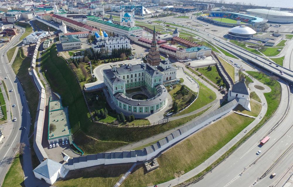 Kreml kazański z lotu ptaka