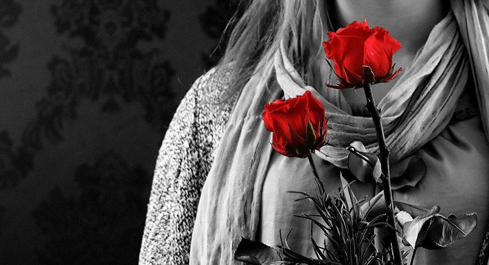 Kobieta z różami