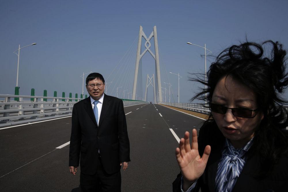 Most morski łączący Hongkong z Makao