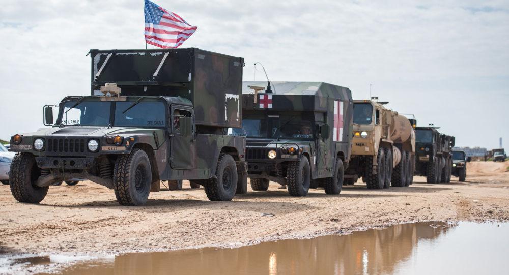 Amerykańskie wojsko podczas manewrów w Izraelu