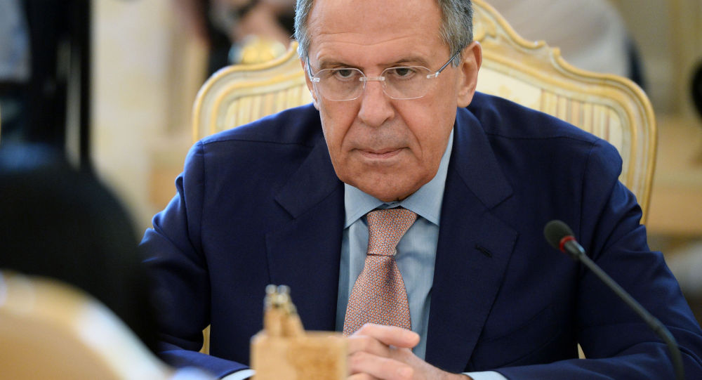 Minister spraw zagranicznych Rosji Siergiej Ławrow podczas spotkania z szefem MSZ Wenezueli w Moskwie