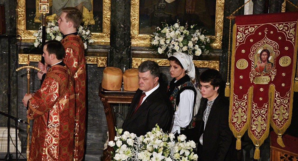 Prezydent Ukrainy Petro Poroszenko złożył  życzenia wielkanocne rodakom