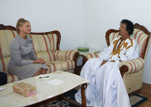 Julia Tymoszenko i Muammar Kaddafi
