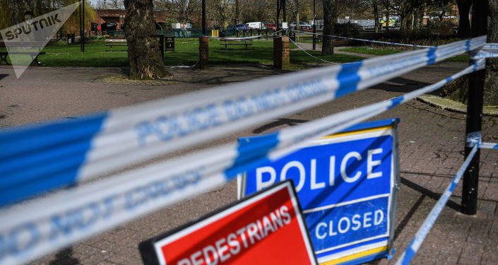 Barierki przy wejściu do parku w Salisbury, gdzie na ławce znaleziono byłego pułkownika GRU Siergieja Skripala i jego córka Julia