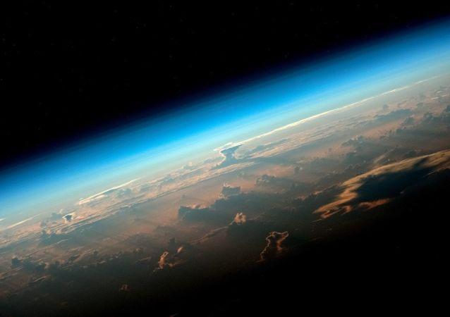 Widok na Ziemię z pokładu Międzynarodowej Stacji Kosmicznej