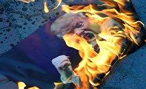 Symferopol: akcja przeciwko bombardowaniu Syrii przez wojska koalicji USA