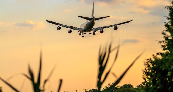 Samolot Boeinga podczas lądowania