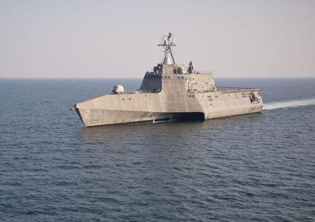 Amerykański okręt walki przybrzeżnej USS Independence