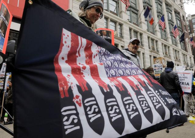 Protesty w związku z bombardowaniem Syrii, Nowy Jork
