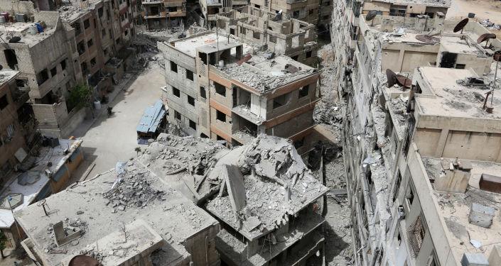 Zburzone domy w syryjskiej Dumie
