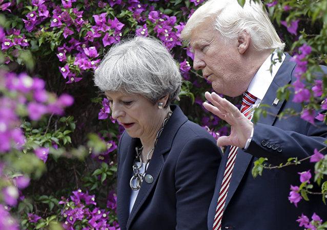 Donald Trump i Theresa May