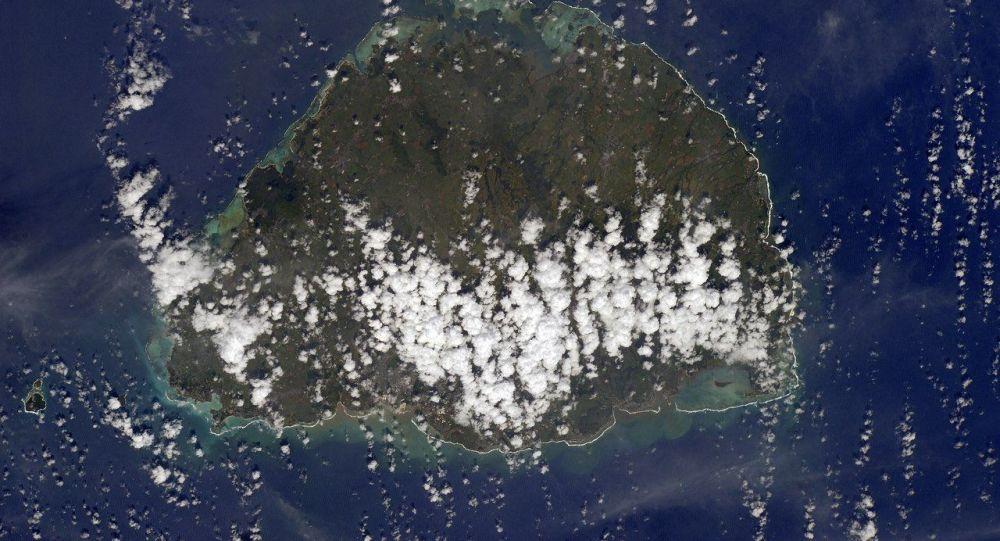 Wyspa Mauritius widziana z kosmosu