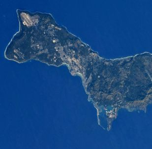 Wyspa Guam widziana z kosmosu