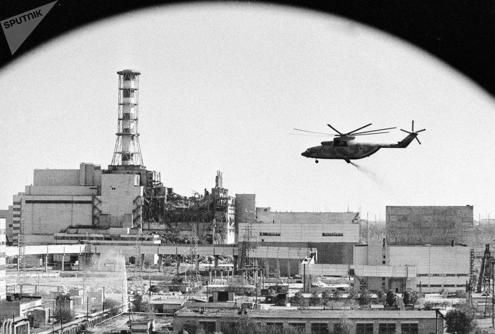 Odkażanie radioaktywne elektrowni jądrowej w Czarnobylu