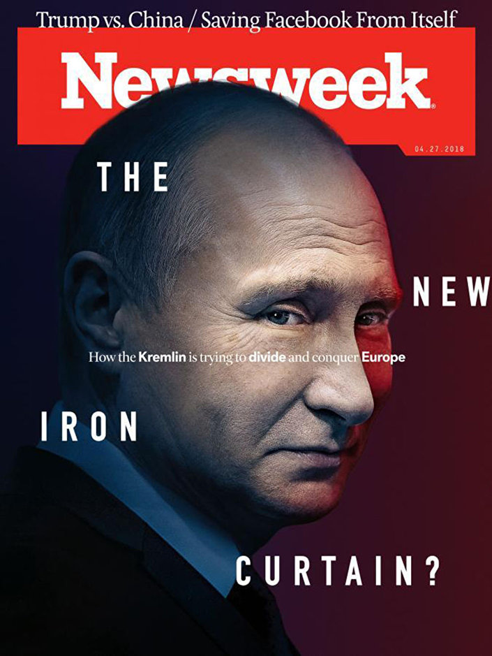 Okładka Newsweeka z Władimirem Putinem