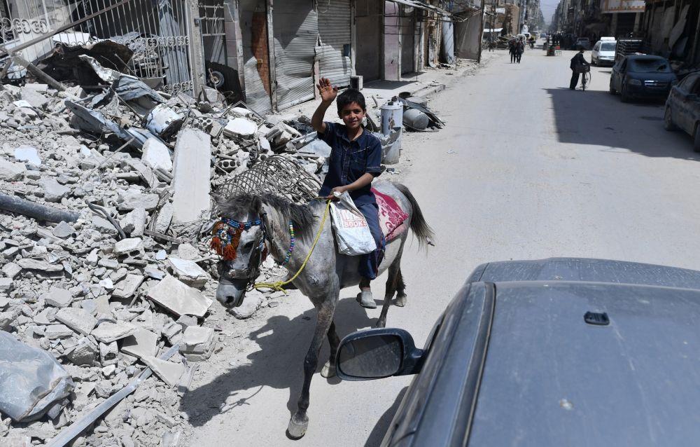 Przedmieścia Damaszku po wyzwoleniu z rąk terrorystów