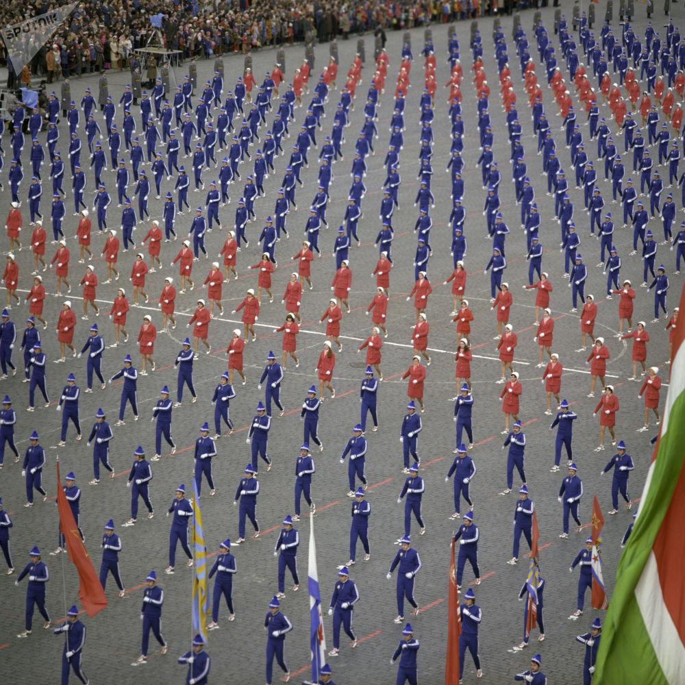 Parada sportowa na Placu Czerwonym, Święto Pracy, 1976 r.