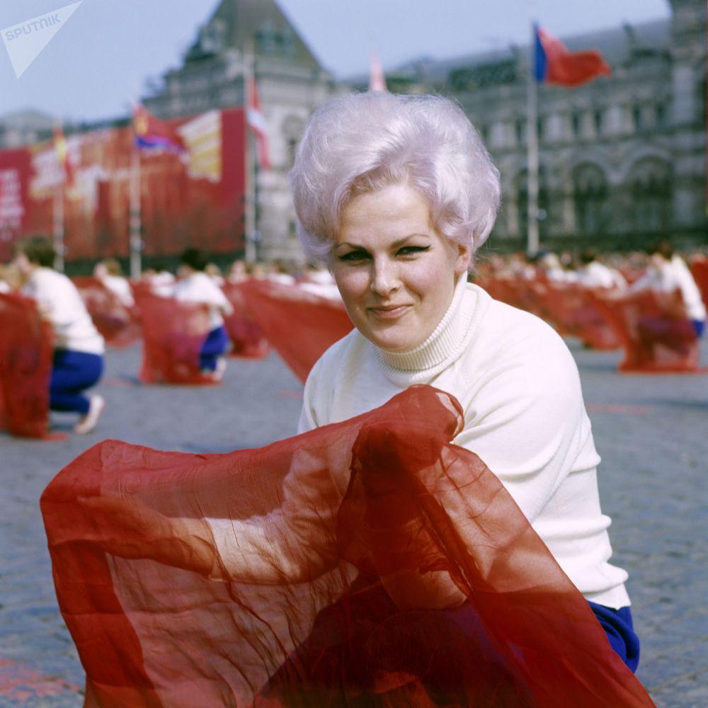 Parada Sportowa na Placu Czerwonym w Moskwie, 1 maja 1969 r.