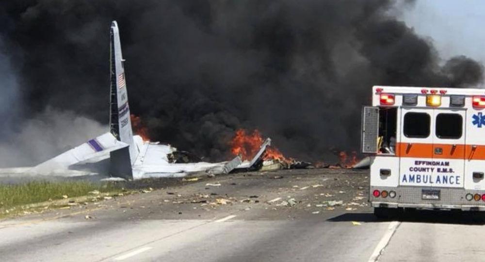 Miejsce katastrofy samolotu C-130 w USA