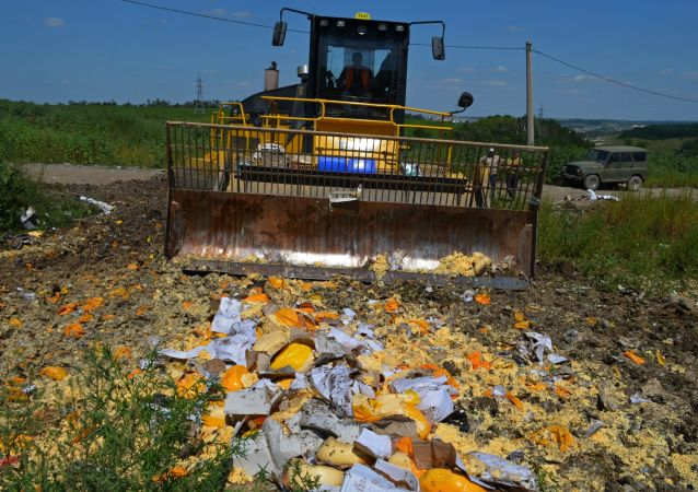 Utylizacja żywności objętej rosyjskim embargiem w obwodzie biełgorodzkim