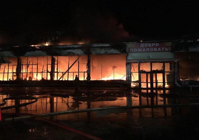 Podpalenie przyczyną pożarów w centrach handlowych w Nojabrsku
